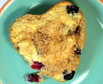 Sour Cream Blueberry Muffins - 52 Breakfast Recipes for Church PotLucks or Catering
