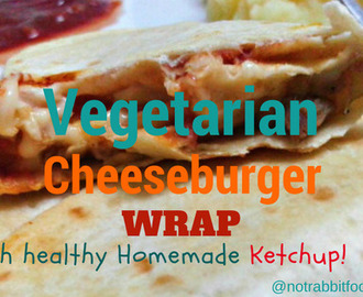 Celebrating National Cheeseburger Day with Vegetarian Cheeseburger Wraps