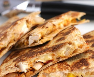 Chicken Tender Quesadilla with Sun-Dried Tomato Chutney