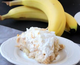 Toasted Coconut Banana Meringue Pie
