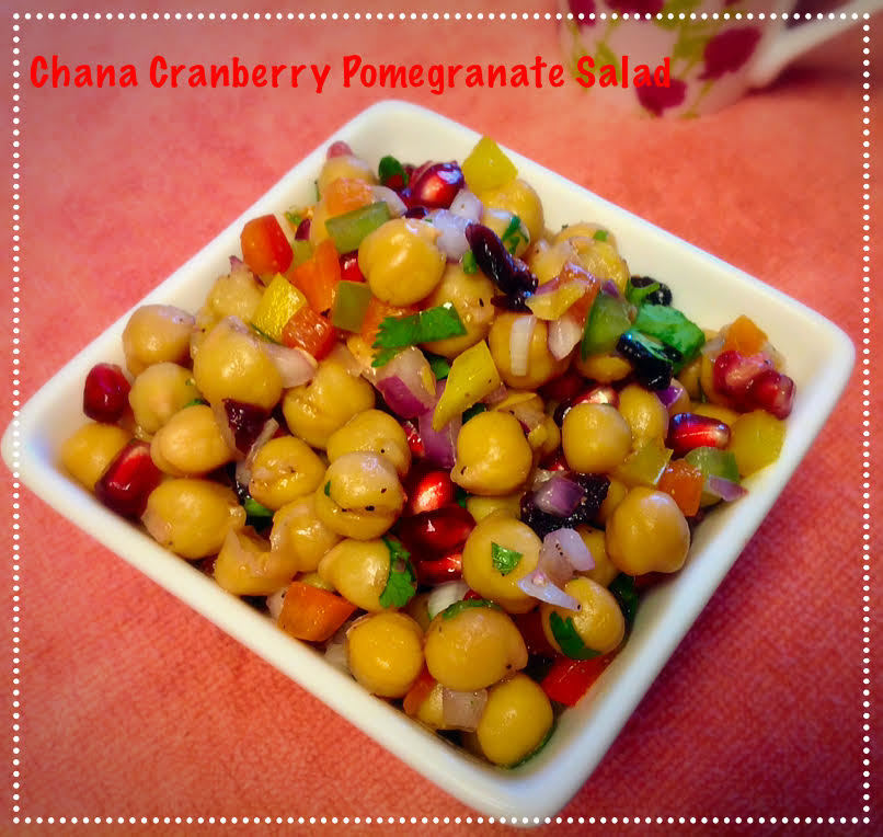 Chickpeas Cranberry Pomegranate Salad