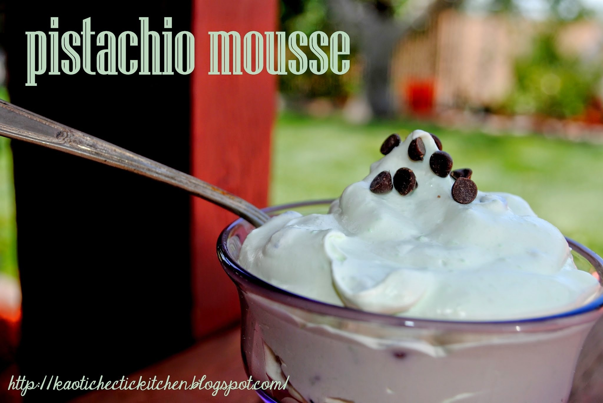 recipe roulette - pistachio mousse and pistachio mousse casserole..
