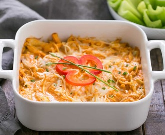 Buffalo Chicken Dip Recipe #SundaySupper