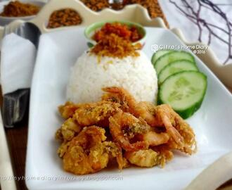 Nasi Udang Sambal ala Bu Rudi /  Indonesian Shrimp rice with sambal