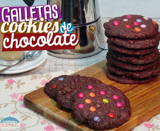 Galletas cookies de chocolate (Súper fáciles y riquisimas)