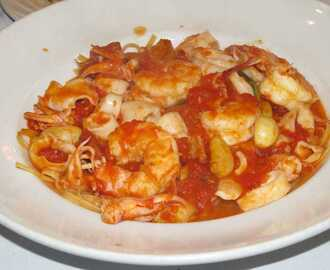 Fish and Shrimp Pasta