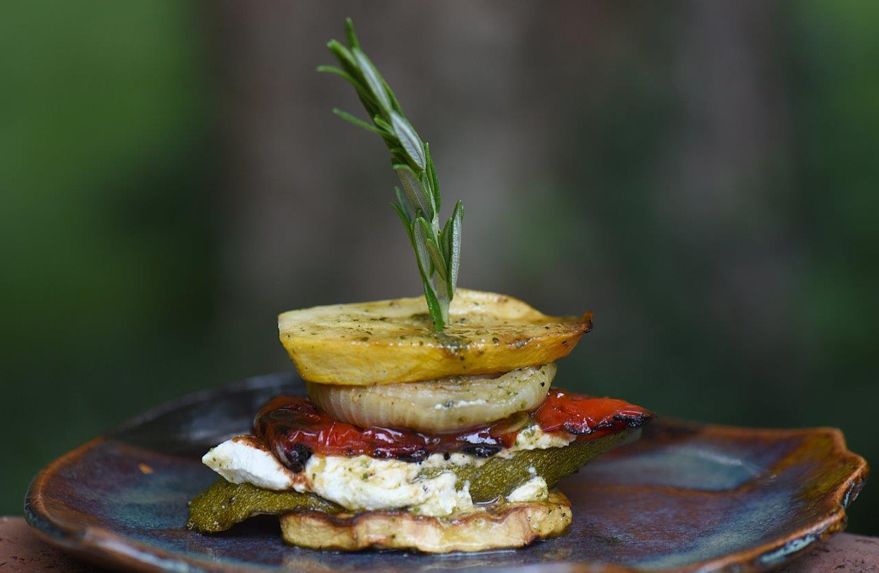 Grilled Vegetable Napoleon - one of Summer 2015's hottest side dishes