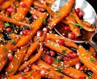 Honey Maple Roasted Carrots