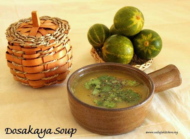 Dosakaya Soup / Yellow Cucumber Soup - Easy Soup Recipe