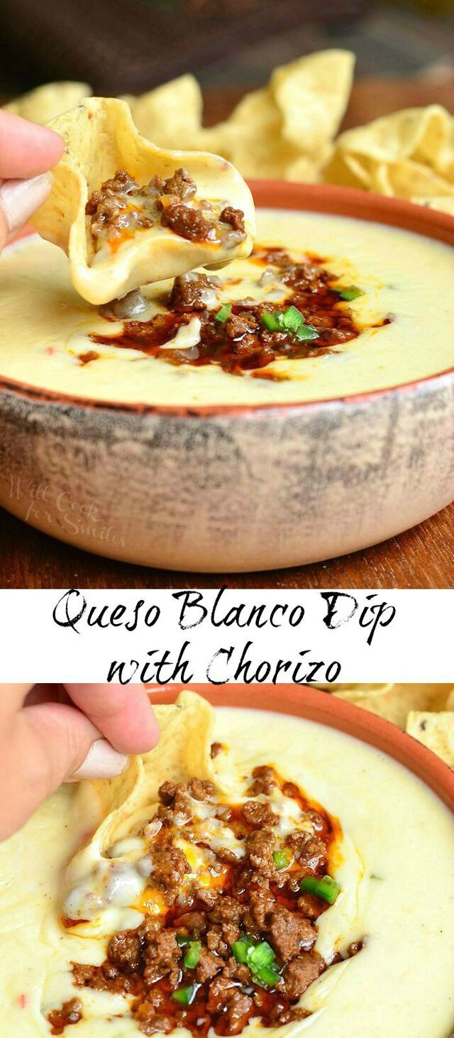 Queso Blanco Dip with Chorizo