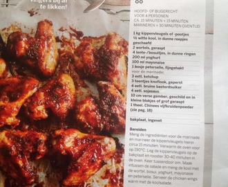Sticky ginger chicken wings met frisée koolsalade