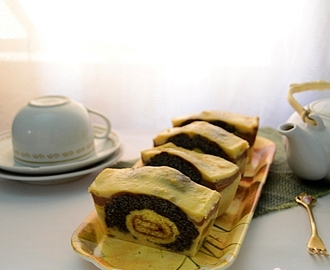 Puding Ubi Cassablanca with Roll Cake Inside