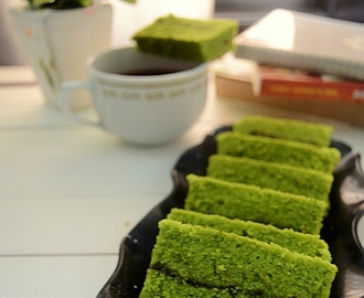 Steamed Matcha Cake