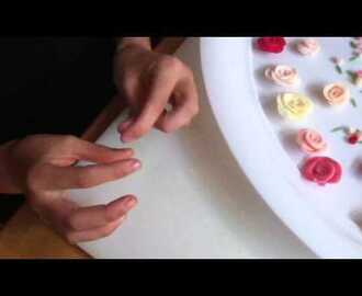 Sugarcraft: how to make a tin rose bud in under 30 seconds