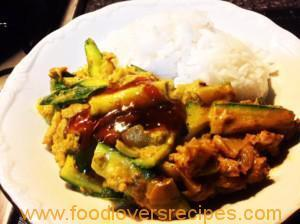 FISH CURRY WITH JASMINE RICE