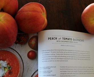 Virginia Willis says we should Lighten Up so let's have Peach Soup!