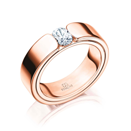 Vigselring 18k roséguld Beauty 0,50 ct - 50 - 50