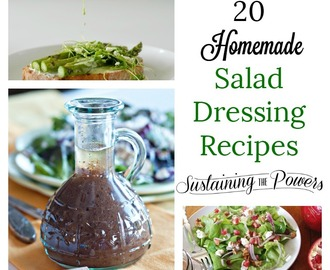 20 Homemade Salad Dressing Recipes + Meal Plan Monday Week 26