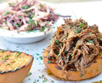 Smoky Mexican Pulled Pork Rolls With Chilli Slaw