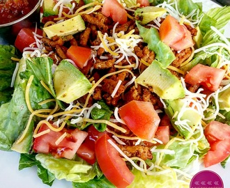 Healthy Ground Turkey Mexican Salad