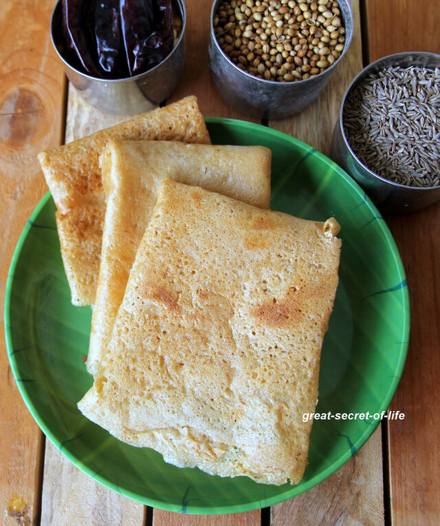 udupi famous food  uppu huli dosa - Sweet, spicy and tangy dosa - Famous Karnataka dosa recipe