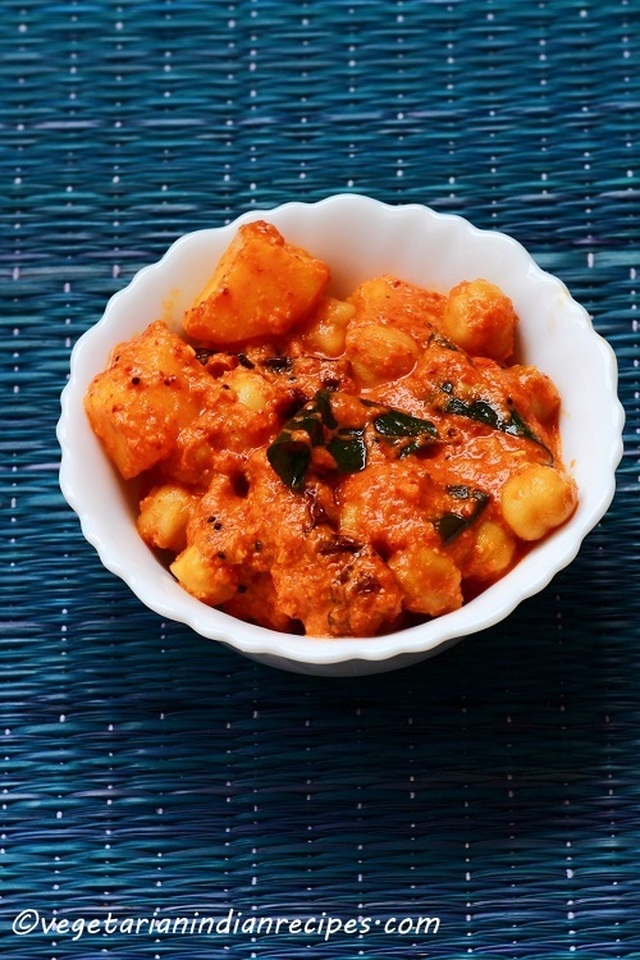 Chana Gashi - Chana Gassi - Mangalorean Chickpea Curry