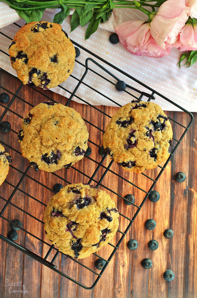 Blueberry Bran Muffins – Muffins de Salvado con Blueberries