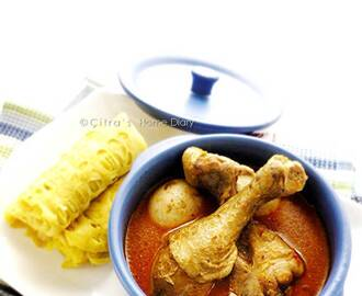 Kari Ayam dengan roti jala / #Indonesian style Chicken #Curry serve with net pancake