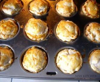 Mini Chicken and Leek Pies