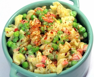 Creamy Pasta Pea Salad Chilled Summer Salad - 52 Church PotLuck, Grilling and BBQ Side Dishes