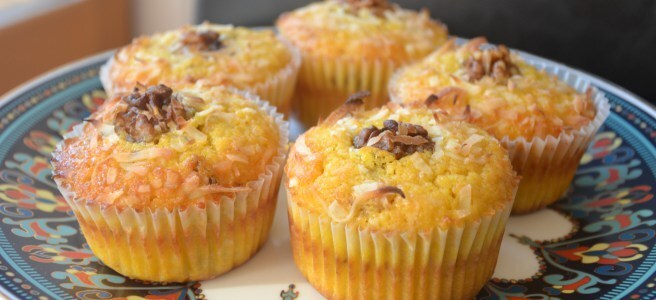 Pumpkin Muffins with Coconut, Walnuts and Spices