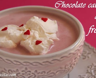 Chocolate caliente de fresas