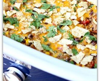 Slow Cooker Taco Casserole
