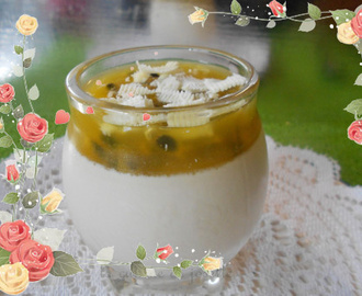 panna cotta et fruits de la passion