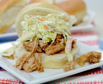 BBQ Pulled Pork & Slaw Sandwich