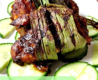 Roast Thai Pandan Chicken (Gai Hor Bai Toey)