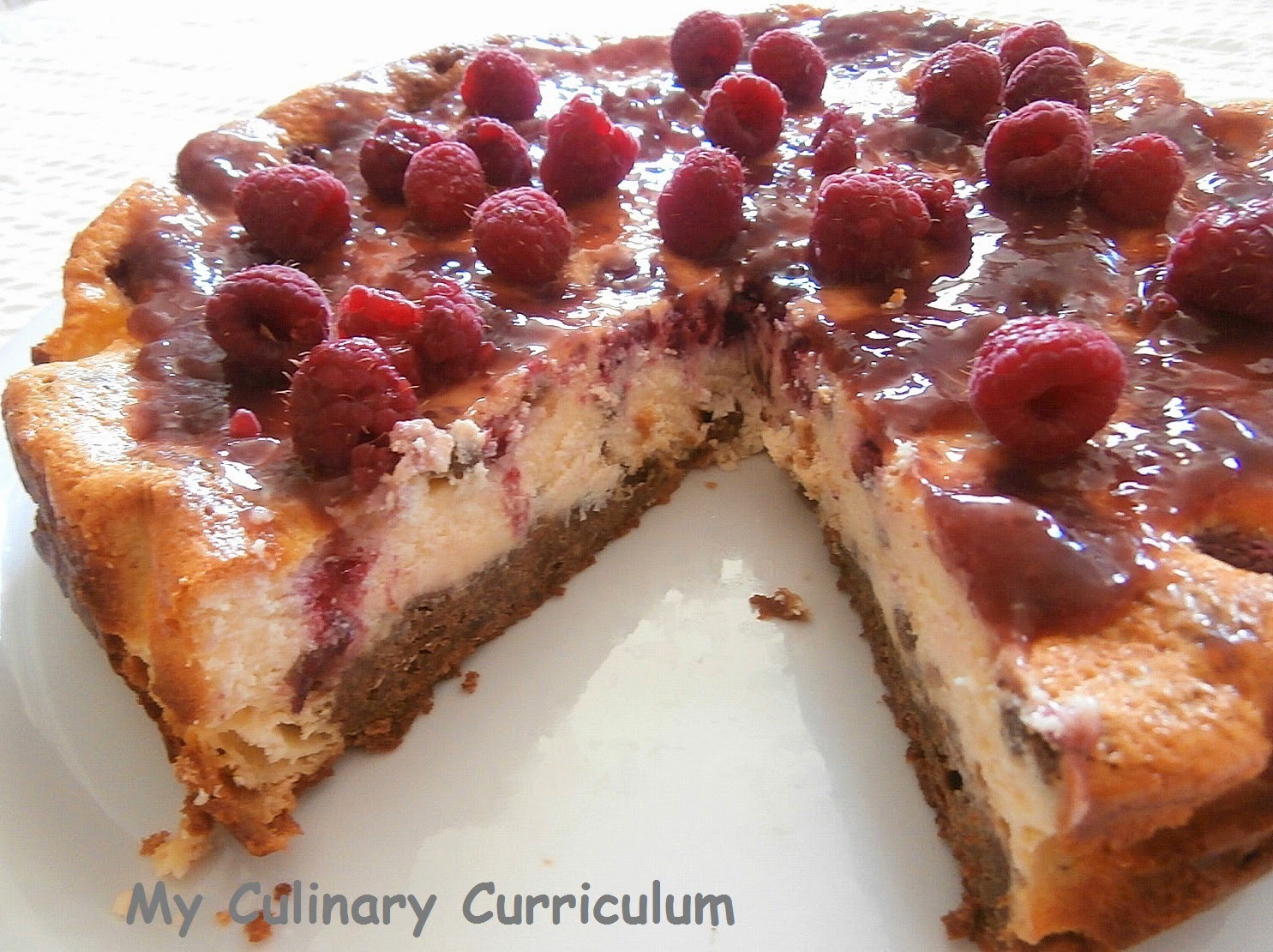 Cheesecake aux framboises (Rapsberries cheesecake)