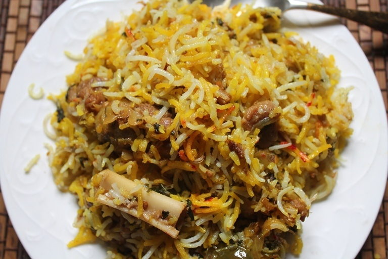 Easy Mutton Dum Biryani Recipe - Lamb Biryani Recipe
