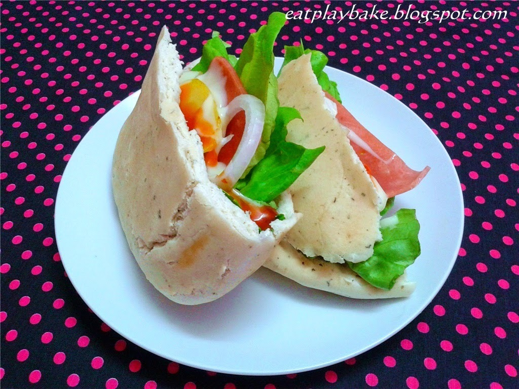 火腿口袋面包 Pita Bread with Ham