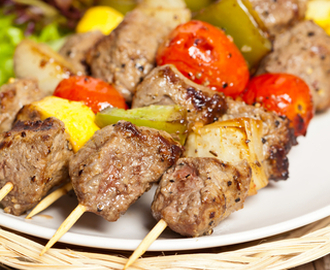 Herb Marinated Pork Kabobs with Vegetables