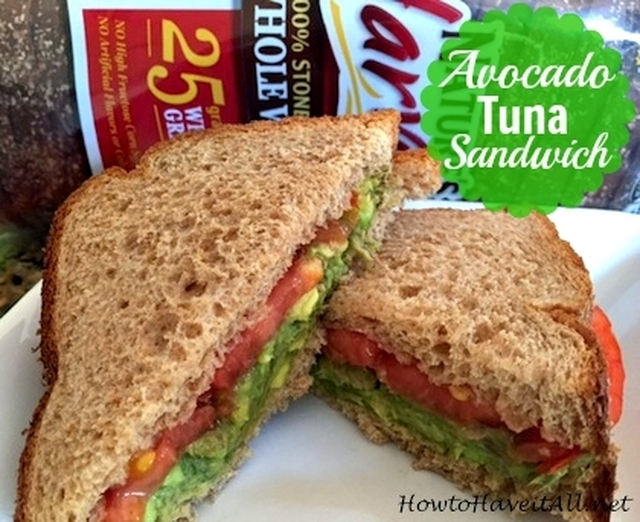 Avocado Tuna Salad Sandwich Recipe + Nature's Harvest Giveaway