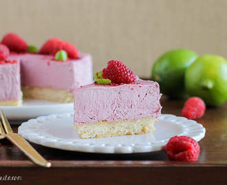 Vegan Raspberry Lime Cheesecake with Coconut Crust