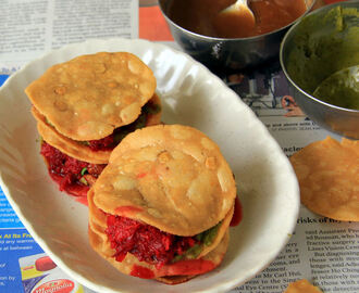 Salem Thattu Vadai Set recipe - Thattai Vadai sandwich recipe - Snack recipes - Kids friendly Recipes