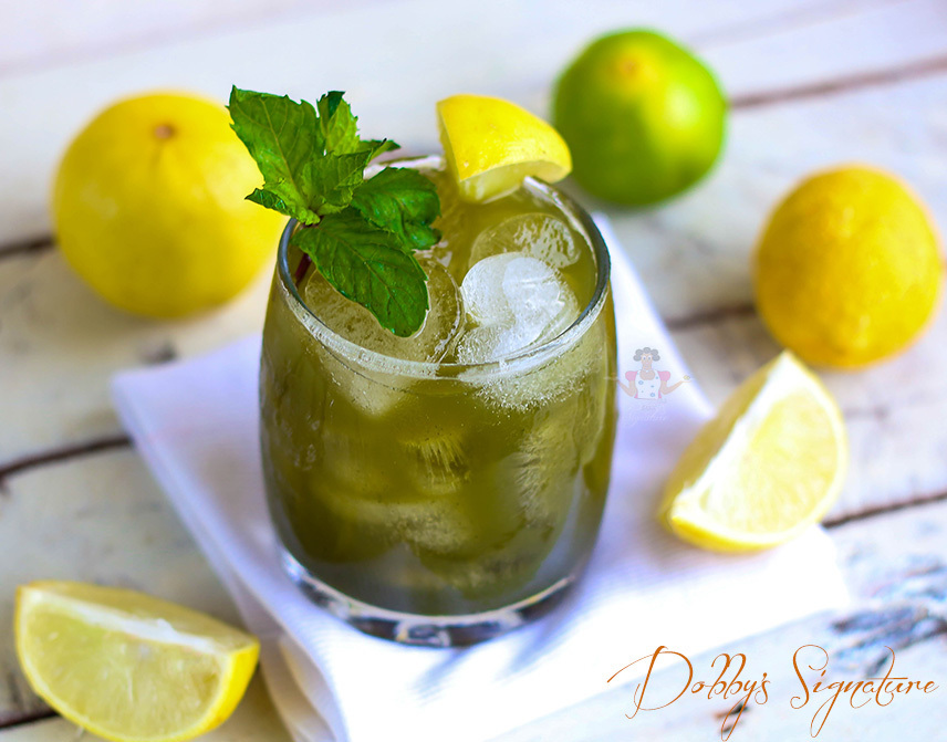 Cucumber mint lemon juice