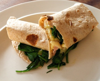 Spinach Omelette Chapati Wraps