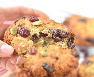 Clean Breakfast Cookie | Coconut Cranberries Oat Cookies