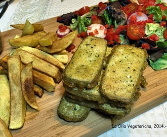 Fish and chips veganos.-