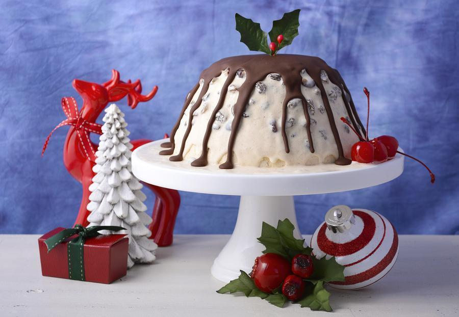 Christmas Ice Cream Plum Pudding