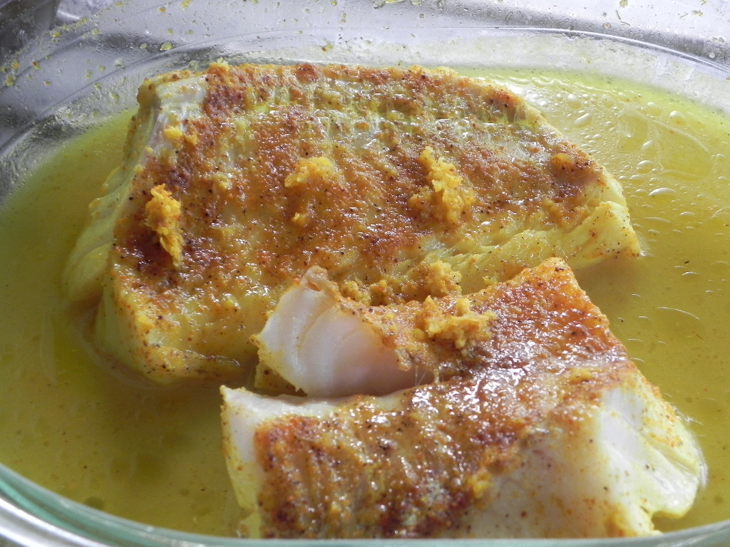 Cabillaud au curry et citron