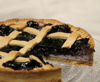 Crostata di ricotta e mirtilli